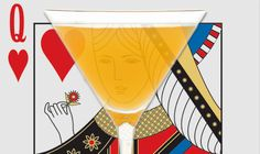 Queens Martini dedicated to Carrie Heffernan http://pocketcocktails.com #KingOfQueens