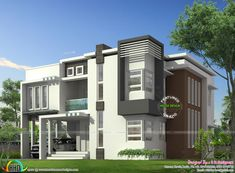 Modern Home Front Design Archives - Page 45 of 393 - Best Home Interior Design Small House Interior Design, Dream Home Design, Simple Interior, House Cladding, Facade House, Style At Home, Master Bedroom Set, Feng Shui House, Kerala House Design