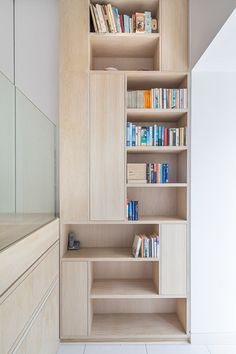 TOM - mix of open and closed shelves dezeen Chelsea Town House by Moxon 818308f60d58