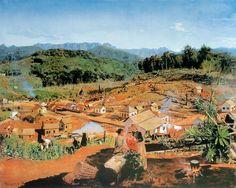Vida Nova (Nova Veneza). 1893. Óleo sobre tela. Pedro Weingärtner (Porto Alegre, RS, Brasil, 26/07/1853 – 26/12/1929, Porto Alegre, RS, Brasil). Acervo da Prefeitura de Nova Veneza, SC, Brasil.