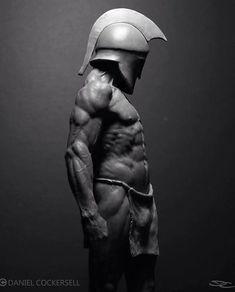Warrior - Champion in Training — Daniel Cockersell Commercial Sculptor and Designer Anatomy Drawing, Anatomy Art, Anatomy Reference, Pose Reference, Tattoo Sticker, Greek Statues, Angel Statues, Poster Art, Greek Art