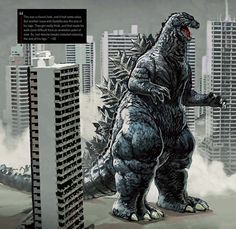 """""""This was a classic look, and it had some value,"""" said Edwards. """"But another issue with Godzilla was the size of his legs. They got really thick, and that made his walk cycle difficult from an animation point of view. So, last-minute tweaks included reducing the size of his legs."""""""