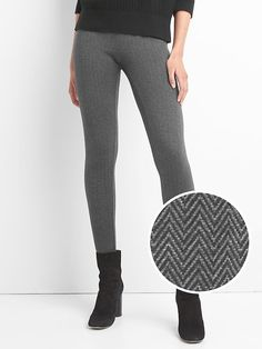 Gap Womens Herringbone Leggings Herringbone Size XL