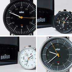Remerging Braun watch designs by Dieter Rams.