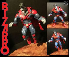 Bizarro custom action figure from the Marvel Legends series using ML Space Venom BAF as the base, created by L&A's Customs. Banner Hulk, Conan The Barbarian, Marvel Legends Series, Jim Lee, Custom Action Figures, Star Lord, X Men, Statue, Superhero