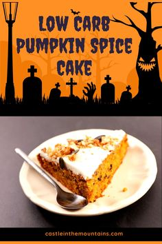 Best Low Carb Pumpkin Cake Pumpkin Cake Recipes, Pumpkin Spice Cake, Low Carb Desserts, Low Carb Recipes, Paleo Recipes, Fluffy Cream Cheese Frosting, Keto Cake, Low Carb Bread, Gordon Ramsay