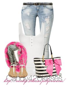 """Untitled #186"" by candy420kisses ❤ liked on Polyvore featuring ONLY, Fornarina, Betsey Johnson, Sperry Top-Sider, Juicy Couture and Dorothy Perkins"