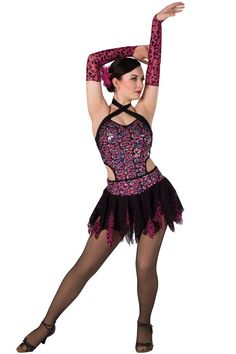 Dance Recital Costumes, Cute Dance Costumes, Dance Fashion, Fashion 2017, Kids Fashion, Dance Picture Poses, Dance Pictures, Black Spandex Shorts, Mesh Skirt