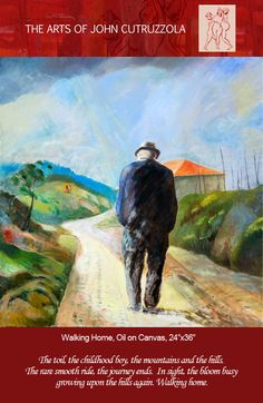 """Walking Home, Oil on Canvas, 24""""x36"""""""