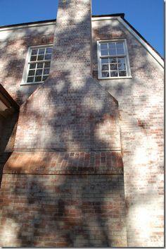 Limewashed brick