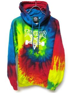 tye-dye thrasher hoodie // SIZE: S Thrasher Outfit, Thrasher Magazine, Trendy Hoodies, Cool Outfits, Fashion Outfits, Indie Fashion, Mein Style, Tie Dye Hoodie, Look Cool