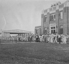Administration building opening day, Bowman Field, Louisville, Kentucky, 1932.