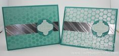 Bubble wrap technique - video tutorial from I Love Papercrafts #christmascards #stampingtechnique #stampinup
