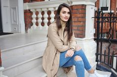 camel converse denim dorothy perkins fashion hi top jeans jumper knitwear missguided new look ripped jeans roll neck spring transition trench coat