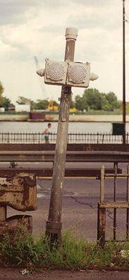 Crouse Hinds Traffic Light Antique Glass Lens, old vintage ...