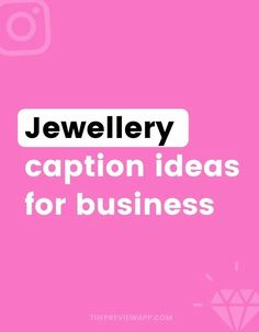 Have you seen the new Instagram captions for jewellery in Preview app? There are hundreds of jewellery caption ideas, jewellery quotes and captions to promote your beautiful products. These captions are perfect if you have a small business, a handmade jewellery shop or if you want to build an amazing community on Instagram. #instagramtips #instagramstrategy #instagrammarketing #socialmedia #socialmediatips Building A Personal Brand, How To Start Conversations, Instagram Marketing Tips, Gain Followers, Popular Quotes, Instagram Bio, Photography Tutorials, Social Media Tips, Personal Branding