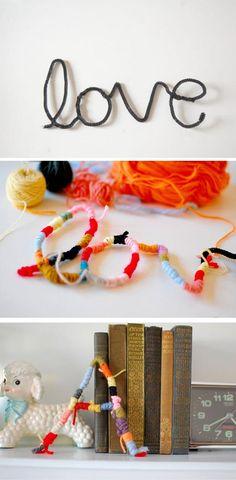manualidades con lana de colores para los mas pequeños