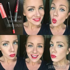 Having some fun with my Younique lip color today! I'm loving this classic bright red lip and simple black winged eyeliner. www.laurellash.com