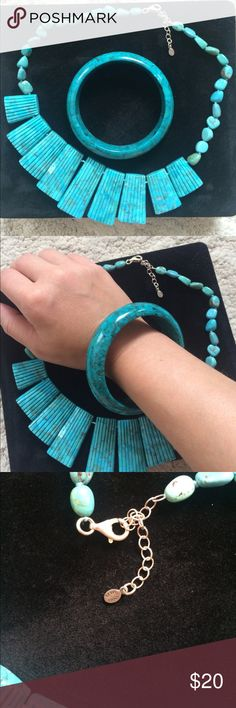 Sally Chanaratsopon Turquoise necklace Has a nice weight to it. Jewelry