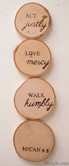 Wood Burned Coasters DIY - http://illistyle.com | Silhouette Project