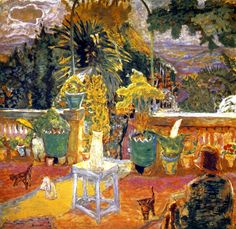 The Terrace at Grasse, 1912, by Pierre Bonnard (French, 1867-1947)