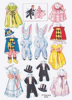 Paper Dolls~27 Dancing School Paper Dolls - Bonnie Jones - Picasa Web Albums