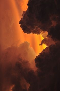Orange black and red are my main ideas, but I also envision sunsets when the sun shine that unique red over the sky and land before the day ends Pretty Sky, Beautiful Sky, Beautiful World, Beautiful Pictures, Orange Aesthetic, Sky Aesthetic, Storm Clouds, Sky And Clouds, Ciel Nocturne