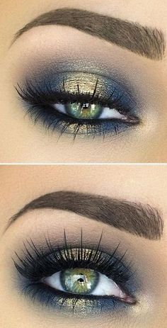 Lashes + Gold & Blue Source