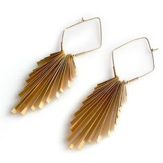 Lingala Earrings Gold Plate, $112, now featured on Fab.