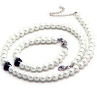 Oceľový set s perličkami a Swarovski srdiečkami Pearl Necklace, Swarovski, Pearls, Jewelry, String Of Pearls, Jewlery, Beaded Necklace, Beads, Schmuck