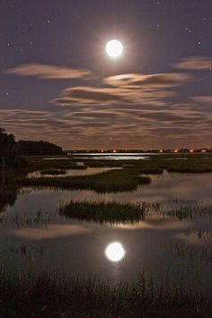 Moon over St. Augustine, Florida.