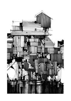 """Jeroen Apers on Twitter: """"De mooie illustraties van architect Kyle Henderson. Check zijn tumblr!  Kyle Henderson is … http://t.co/aT5lTyC1zu http://t.co/FfMBsJdJiA"""""""