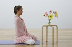 It's pretty easy (and so worth it) to do restorative yoga at home if you have the right props. Learn how to set up six classic poses to get started. Yoga Blanket, Yoga Props, Yoga At Home, Restorative Yoga, Being Used, Restoration, Poses, Classic, Fitness