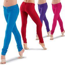 Colored Stretch Denim Leggings; Urban Groove