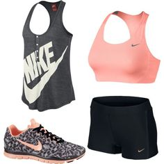 Cute gear nike workout outfits, cute nike outfits, gym out Cute Nike Outfits, Moda Outfits, Cute Workout Outfits, Workout Attire, Sporty Outfits, Athletic Outfits, Athletic Wear, Workout Gear, Gym Outfits