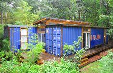 La casa hecha a partir de un contenedor