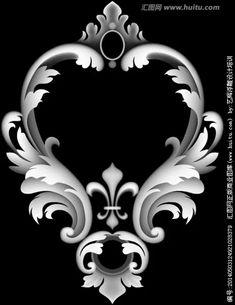 欧式浮雕线灰度图_360图片 Yoga Symbole, Alpha Art, Filigree Tattoo, Baroque Decor, Grayscale Image, Pop Art Wallpaper, 3d Cnc, Modelos 3d, 3d Laser