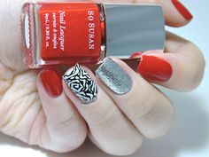 Mix & match - stamping -BM-619 - So Susan Lipstick - nailart