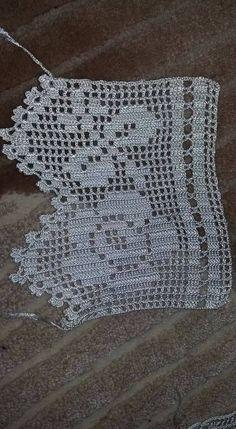 Crochet Doily Diagram, Crochet Borders, Filet Crochet, Crochet Doilies, Crochet Patterns, Crochet Summer Tops, Love Crochet, Vintage Crochet, Crochet Scrubbies