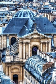 L'église Saint Roch à Paris by Martinez Polo ~ Vendôme, Paris....I tell you, the blue roofs in Paris just grab me....