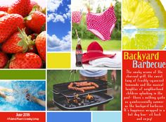 """Backyard Barbecue"" June Mood Board ©Painted Planet Licensing Group"
