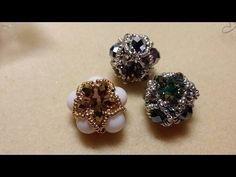 Tutorial Pandorina UFO con Strass/ Chaton, Perline Delica e Rocailles - Beaded bead - YouTube