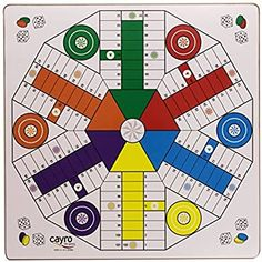 Cayro 40 x 40 cm Ludo 4 & 6 Players Wooden Board by Cayro Paper Games, Paper Toys, Printable Board Games, Origami And Kirigami, Board Games For Kids, Ideias Diy, Baby Shower Cookies, Arabic Words, Handicraft
