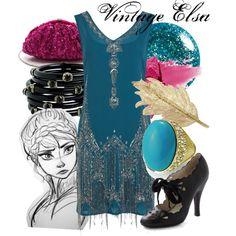 """Elsa Vintage"" by amarie104 on Polyvore"