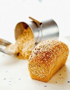 "- Havrebrød - Focaccia - Ostebrød - OatBread, Focaccia, CheeseBread from the bread-book ""Åpent Bakeri""- Oslo Oktoberfest Food, Rye Bread, Our Daily Bread, Bakery, Food And Drink, Favorite Recipes, Sweet, Oslo, German"