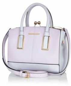 a6f087b383 Lilac structured mini tote bag  riverisland River Island Bags