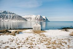 a tiny, abandoned fishing hut just outside of isafjordur, one of iceland's most northern fishing villages.