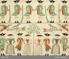 Drawing of soldiers and ladies Category: Works on Paper Creator (Role): Johann Adam Eyer (Artist) Bucks, Pennsylvania, Book Illustration, Cat Illustrations, Indian Paintings, Abstract Paintings, Art Paintings, Scandinavian Folk Art, Art Brut, Naive Art, Outsider Art