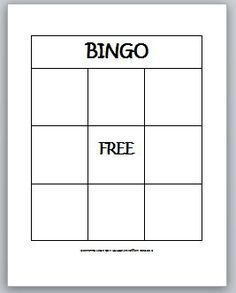 Blank Bingo Template For Teachers Learning Ideas Grades K 8 2