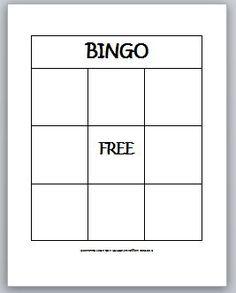 Blank Bingo Template for Teachers | Learning Ideas - Grades K-8: 2-D Shapes Bingo for Kids